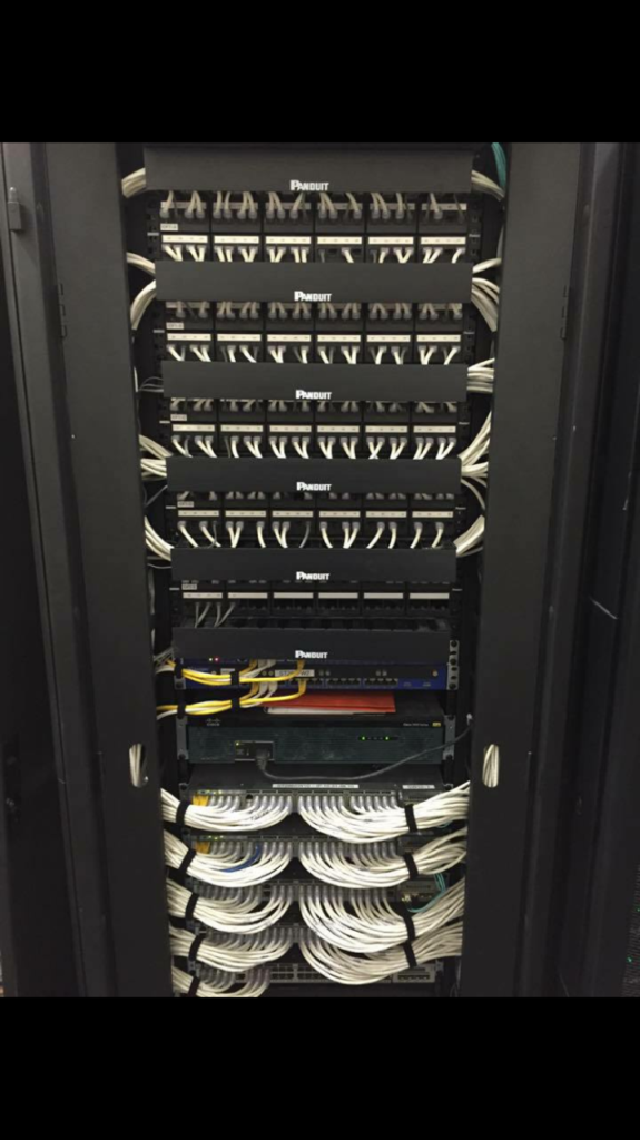 Network Rack for a Retail Store